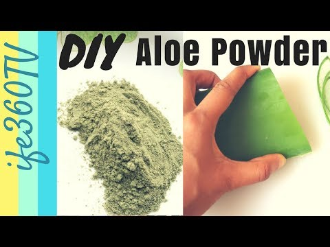 HOW TO Make ALOE VERA POWDER | DIY Ayurvedic Hair Treatment
