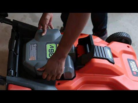 Black & Decker Lawn Mowers - Charging and Storing Batteries