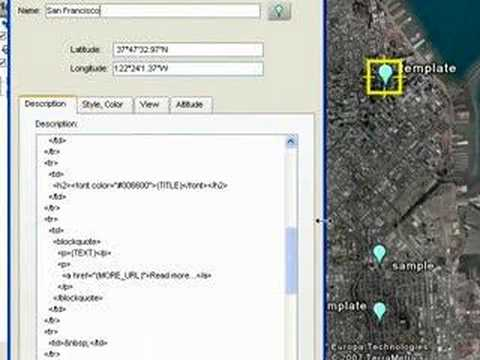 Tutorial: Using Templates to Create Content in Google Earth