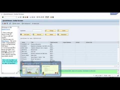 SAP Quick Viewer SQVI