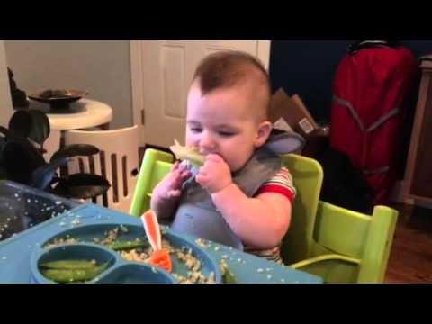 Baby led weaning - lettuce