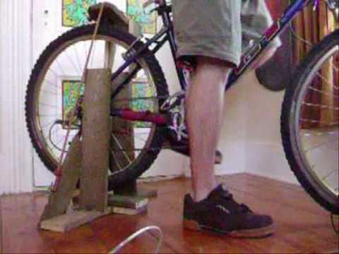 Pedal bike 12 volt power generator, dirt cheap, ghetto style