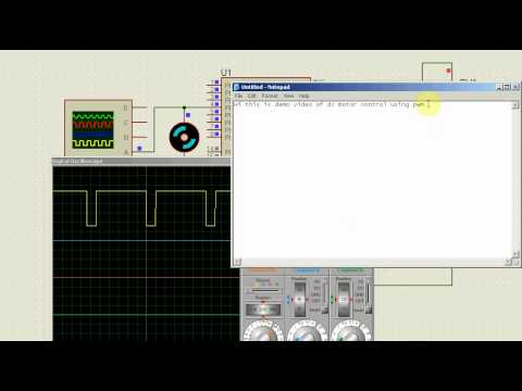 DC motor speed control using PWM with AVR