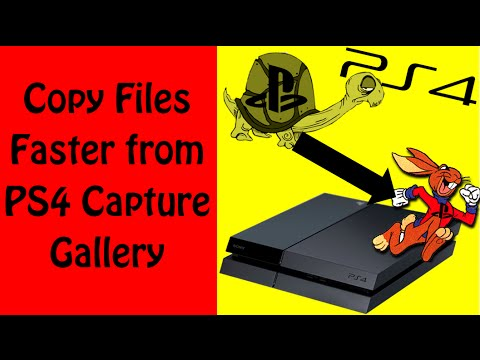 Copy Files from PS4 Capture Gallery to USB Drive Faster