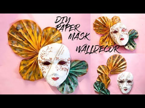 DIY NEWSPAPER WALL DECOR MASK    VENETIAN MASK MAKING WITH PAPER  
