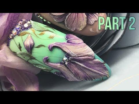 FLAT 3D ACRYLIC ART TUTORIAL PART 2 - Sculpting 3D Flowers