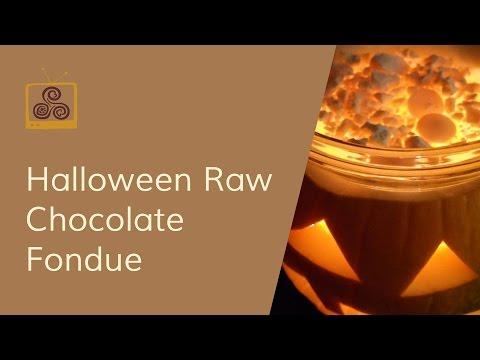 Halloween Raw Chocolate Fondue Recipe