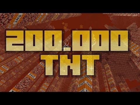Minecraft TNT Explosion - 200K TNT - Survival Mode