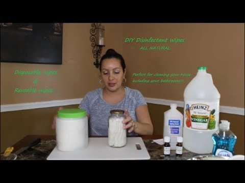 DIY Natural Disinfectant Wipes For Cleaning Chemical Free