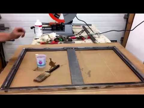 Building welded steel cork board frame