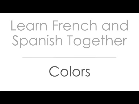 Colors in French and Spanish