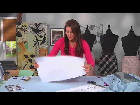 How to cut a skirt pattern on the bias on It's Sew Easy with Angela Wolf (1502-3)