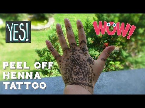 Peel off Henna tattoo tutorial !