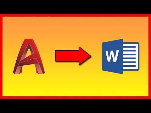 How to export AutoCAD 2019 drawing into Word 2019 - Tutorial