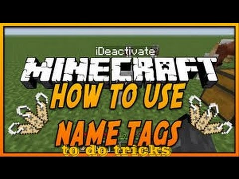NAME TAG TRICKS on MCPE 0.15.0!! - Upside down Horse, Rainbow Sheep & More!! - Minecraft PE