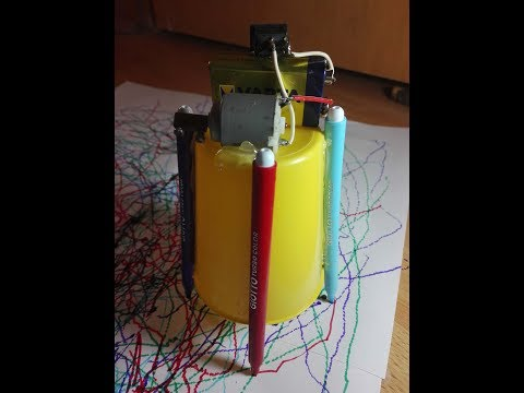How to make motorized coloring bot  for kids DIY