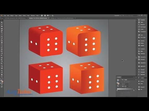 3D Dice Design Tutorial Adobe Illustrator CC 2018