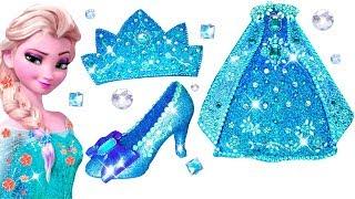 3ec3813b61d Play Doh Making Colorful Sparkle Disney Princess Frozen Elsa Snow ...