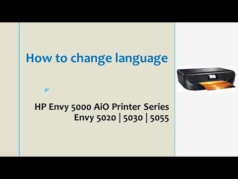 HP Envy 5055 | 5020 |  5030 printer : Change Language