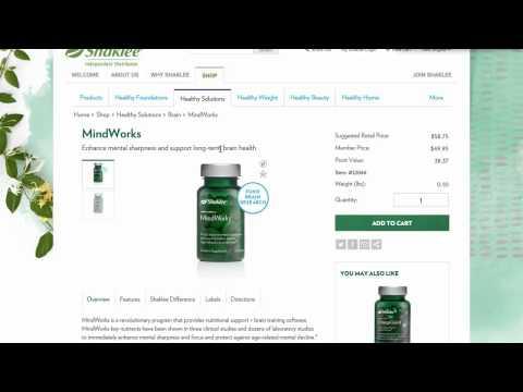 Shaklee Mindworks Ingredients - New Shaklee product Mindworks Ingredients