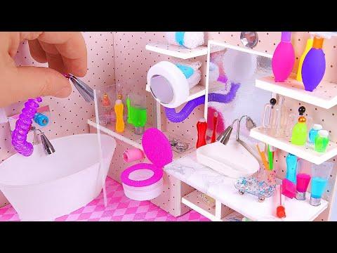 DIY Miniature Dollhouse Bathroom (part I)
