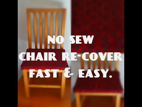 Fast and simple chair re-cover: Easy NO SEW