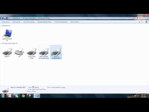 How to Change the Default Printing Device on Laptop,Desktop,PC EASY !!