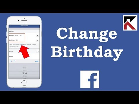 How To Change Birthday On Facebook App 2018