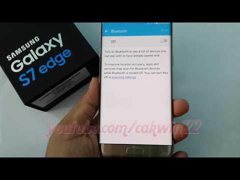 Samsung Galaxy S7 Edge : How to pair or Unpair Bluetooth