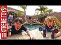 Sneak Attack Squad Vs. Dad! Nerf Rival Showdown!