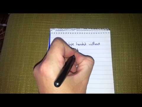 Writing left handed without smudges