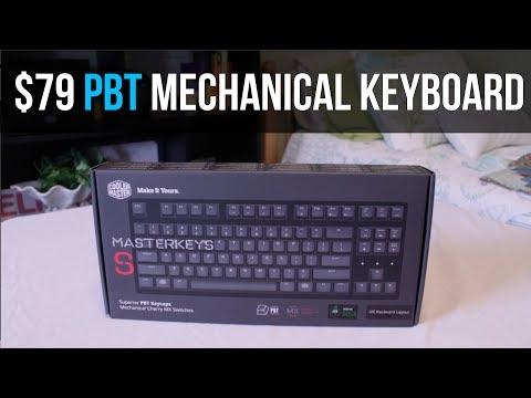 $79 PBT Mechanical Keyboard! (CM MasterKeys S PBT Review)