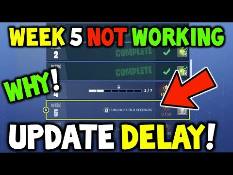 Fortnite - Why the UPDATE was DELAYED & RELATING TO E3 SPECULATIONS? Season 4 WEEK 5 CHALLENGES!