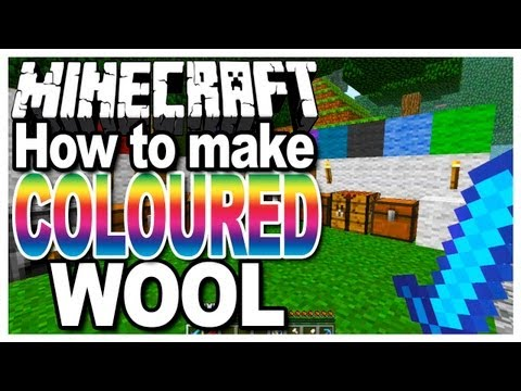 Minecraft - How to make Coloured/Colored Wool