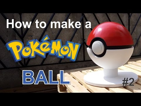 How to make a giant POKEBALL using polystyrene foam (Watch and Learn #3-2)