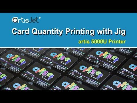 How to Print on Business Cards using printing jig - artis 5000U