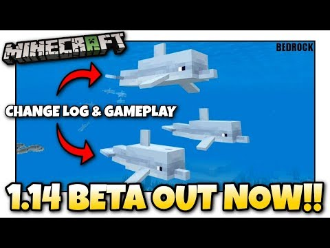 Minecraft - 1.14 BETA OUT NOW ! DOLPHINS ! Update Aquatic / Change Log - MCPE / Xbox / Bedrock