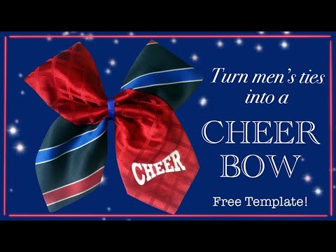 How to make a cheer bow from a mens tie