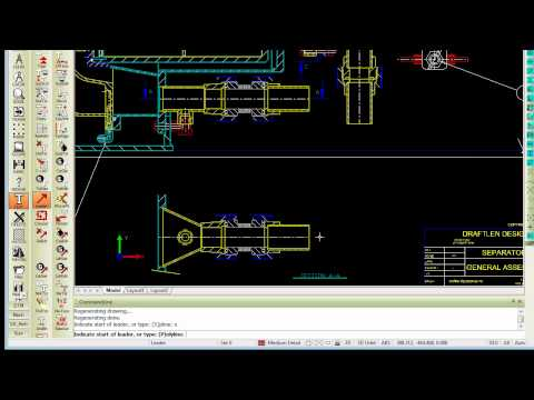 Draw Leader Arrows as Splines in Caddie AEC Architecture .dwg software