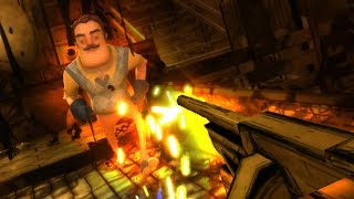 KILLING THE NEIGHBOR WITH THE TOMMY GUN?! - HELLO BENDY (Hello Neighbor + Bendy and The Ink Machine)