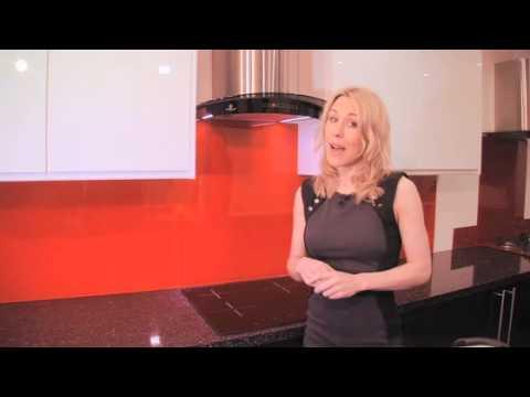 Orange   Colour Glass Splashback 70cm x 50cm Orange Glass Splash Back 70cm x 50cm   3299  Cooker Hoo
