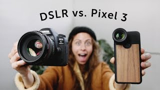 DSLR vs. Pixel 3 | PORTRAIT SHOOTOUT