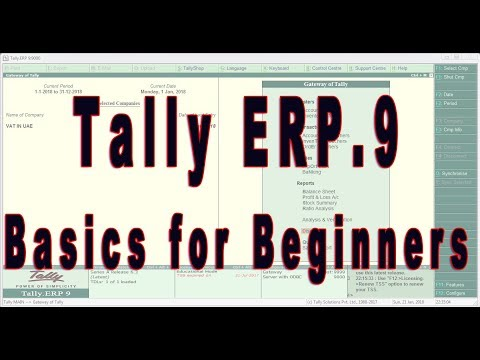 Basics in Tally ERP.9