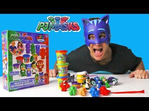 PJ Masks Softee Dough Mold N Play Figure Maker ! || Toy Reviews || Konas2002