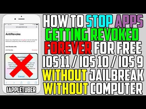 How To STOP Apps Getting Revoked Forever iOS 11 / 10 / 9 (NO Jailbreak NO Computer) iPhone iPad iPod