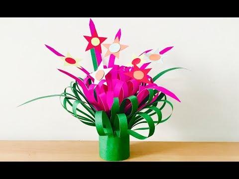 Table top Showpiece | Paper flower bouquet tutorial | Christmas Decoration craft ideas