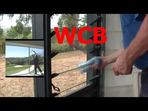 DIY GLASS WINDOW LOUVER CLEANING SCRUBBER