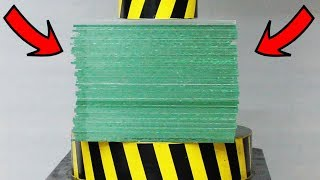 Download EXPERIMENT HYDRAULIC PRESS 100 TON vs 50 Sheets of Glass Video