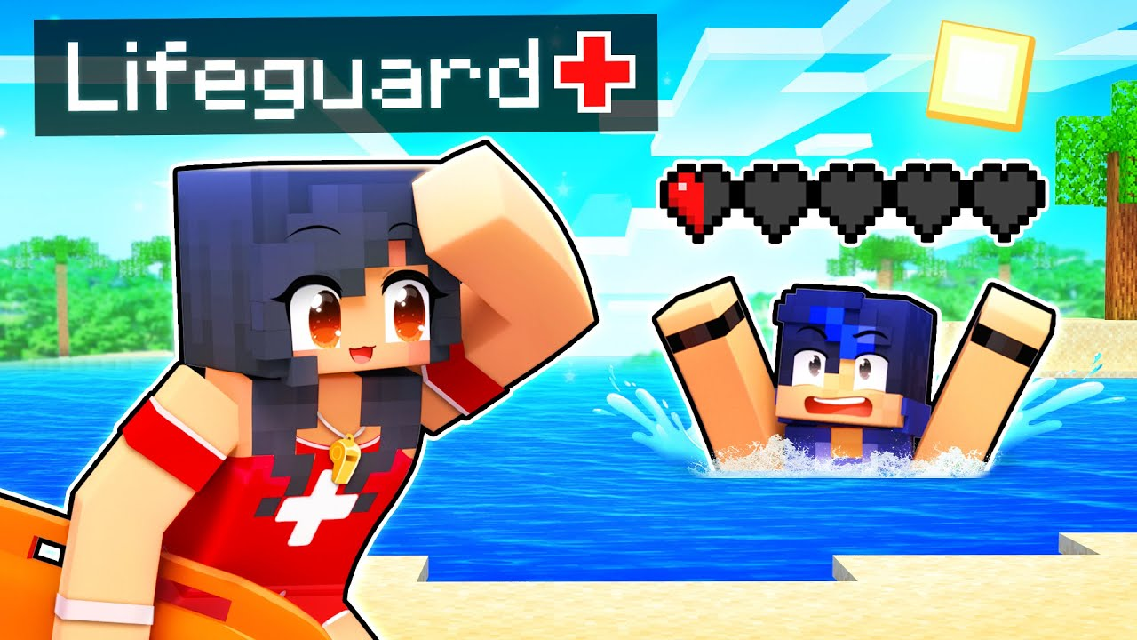 Helping My Friends as a LIFEGUARD in Minecraft!