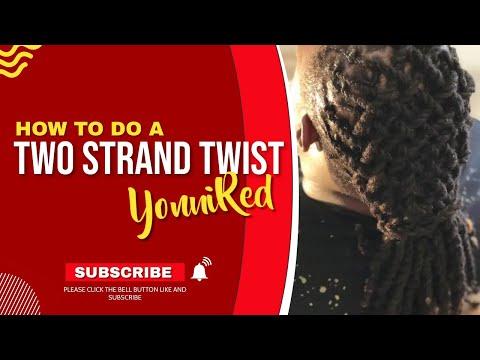 DREADLOCK TUTORIAL :DOUBLE STRAND TWIST